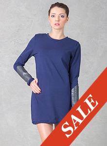 Dress with Armlets Navy Blue - SALE!